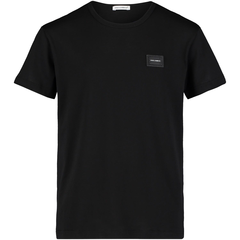 Afbeelding van Dolce & Gabbana L4JT7T kinder t-shirt zwart