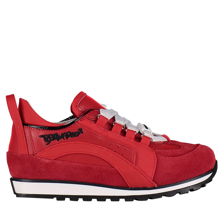 Afbeelding van Dsquared2 59683 kindersneakers rood