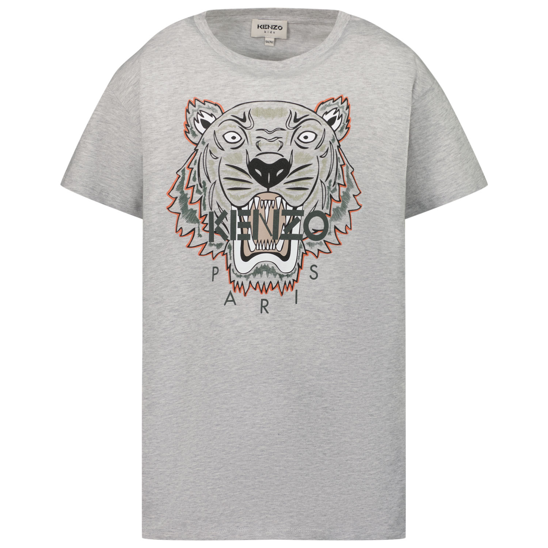 Afbeelding van Kenzo K25113 kinder t-shirt licht grijs
