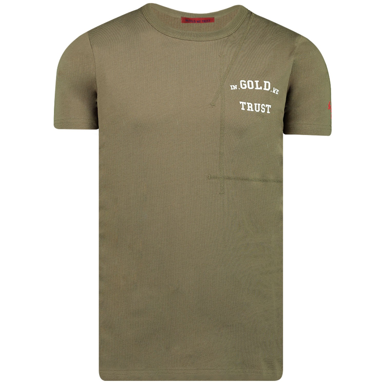 Afbeelding van In Gold We Trust THE ROOTS heren t-shirt groen