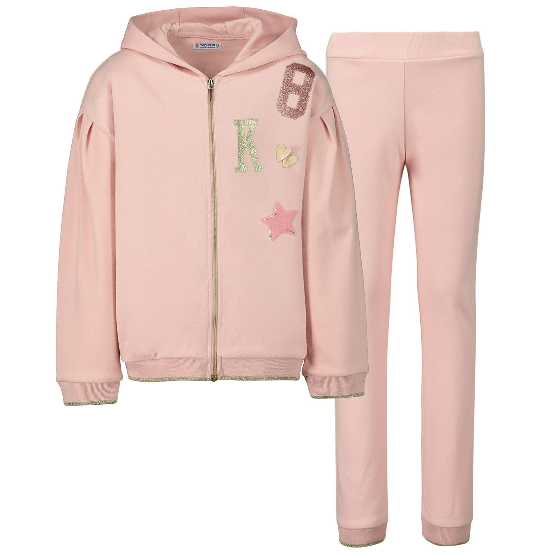 Afbeelding van Mayoral 4804 kinder joggingpak licht roze