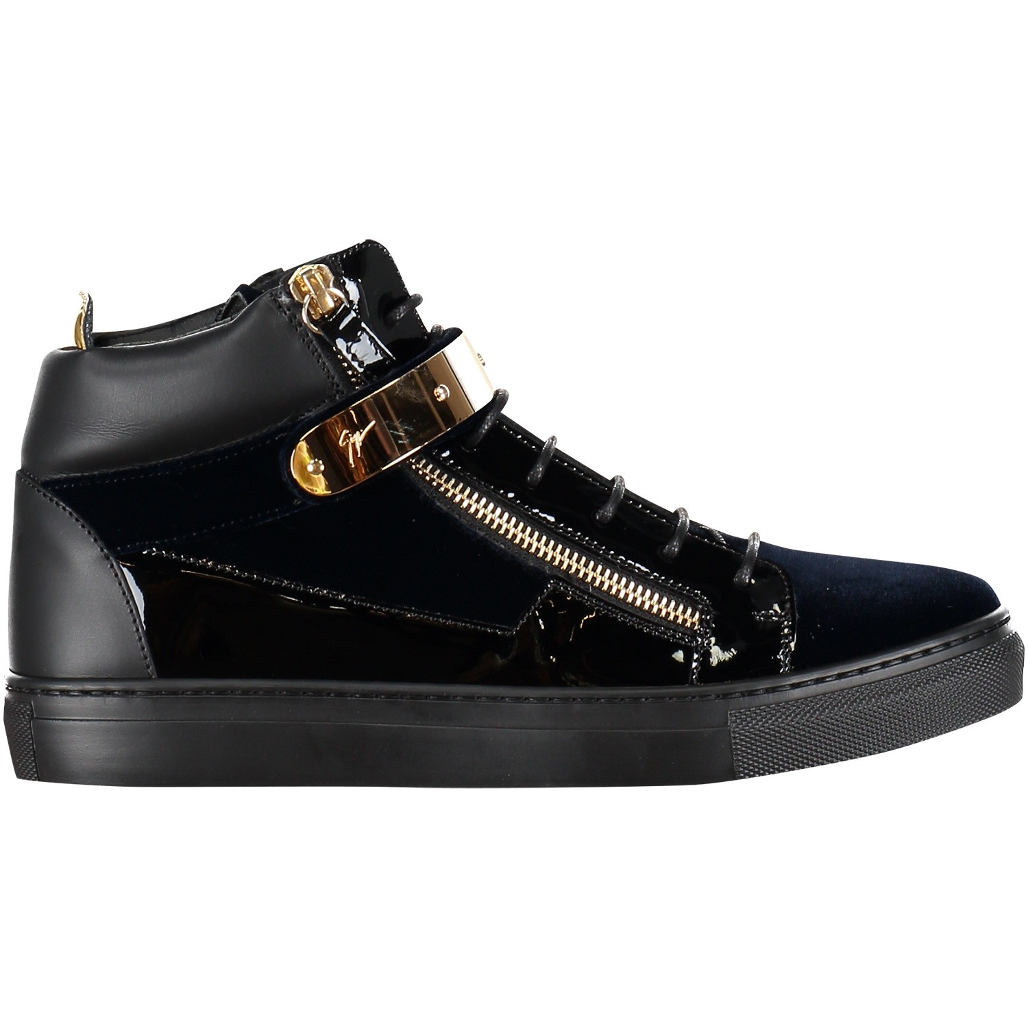 Picture of Guiseppe Zanotti SBI8703 kids sneakers navy