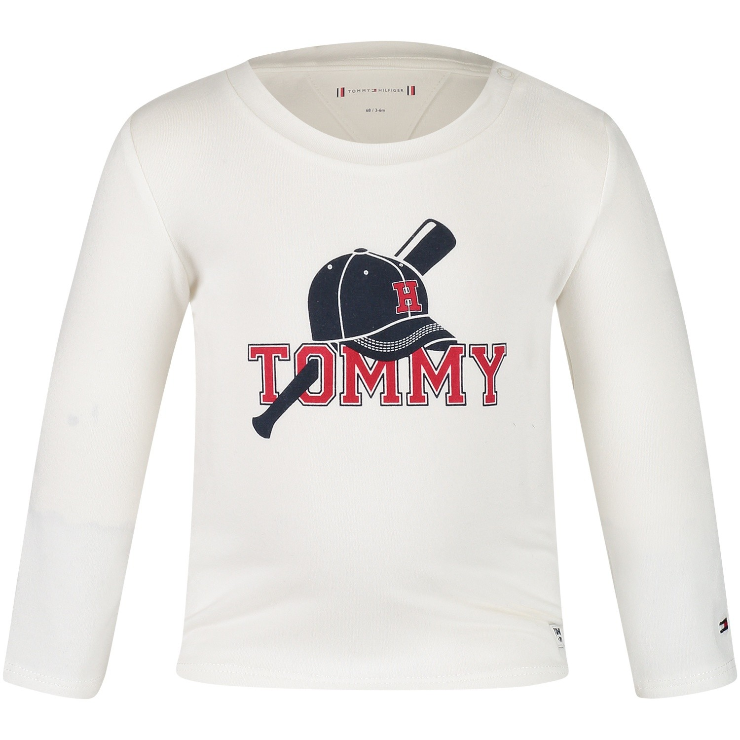 Afbeelding van Tommy Hilfiger KN0KN00900 baby t-shirt off white