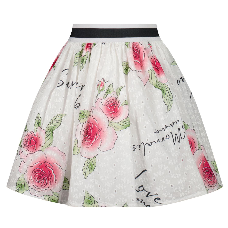 Afbeelding van MonnaLisa 117706 kinderrokje wit/roze