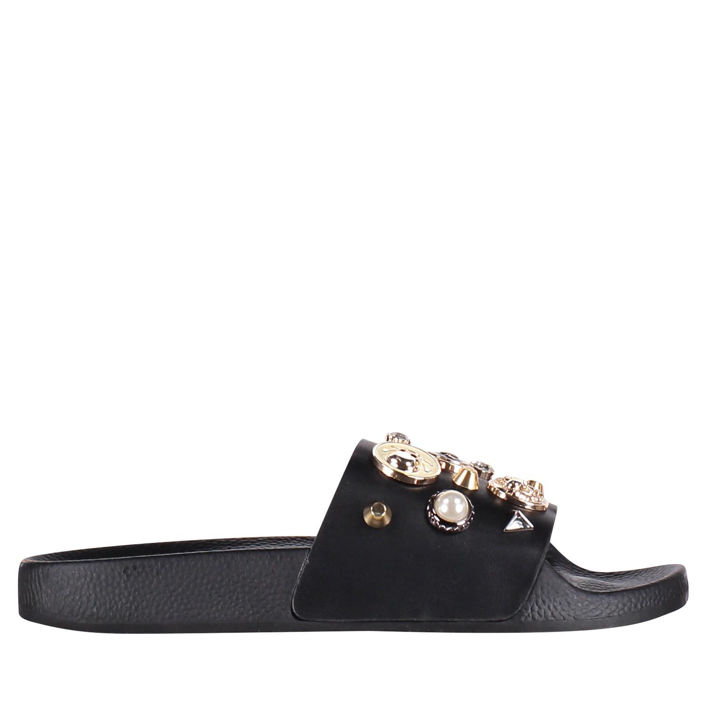 Afbeelding van The White Brand L0327 dames slippers zwart