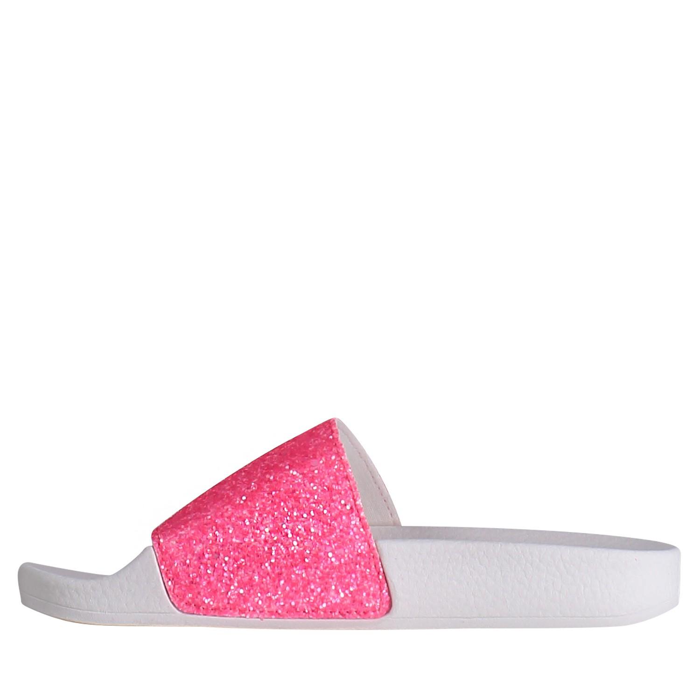 6585688c1ef5 The White Brand K0146 meisjes kinderslippers fluor roze bij Coccinelle