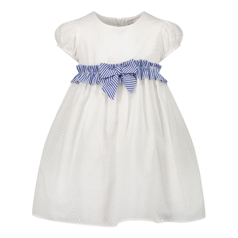Afbeelding van MonnaLisa 377910 babyjurkje wit