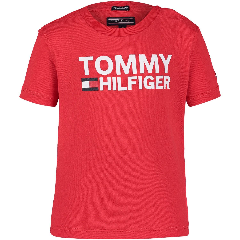 Afbeelding van Tommy Hilfiger KB0KB04078 B baby t-shirt rood