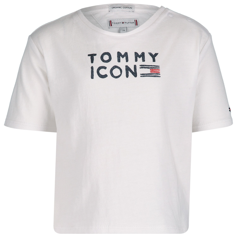 Afbeelding van Tommy Hilfiger KG0KG04392 B baby t-shirt wit