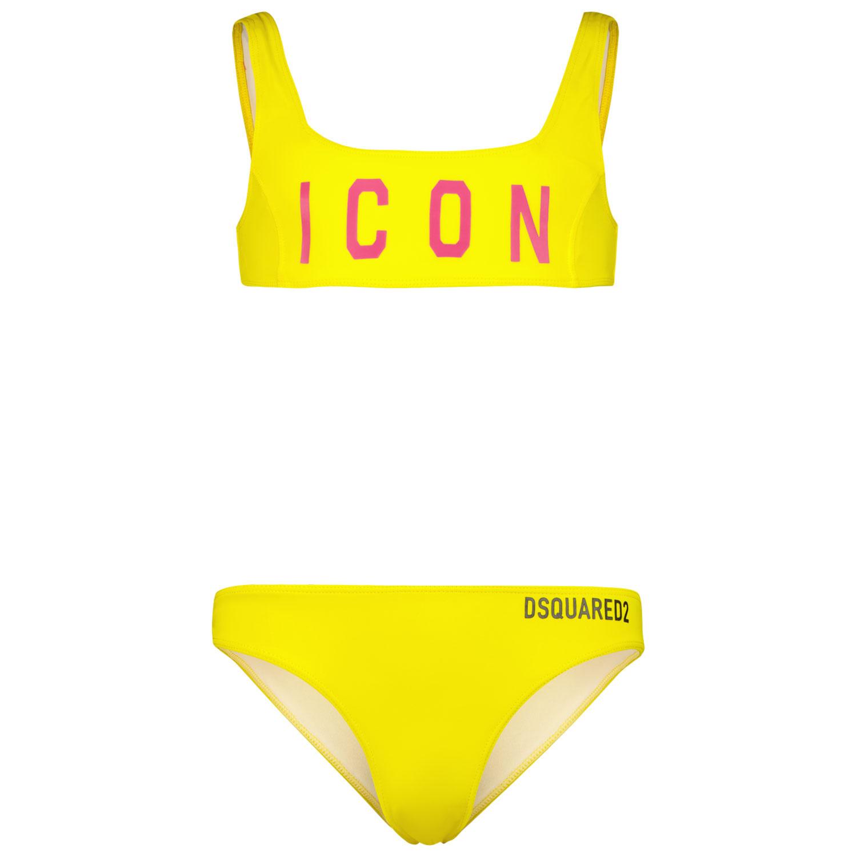 Afbeelding van Dsquared2 DQ0275 kinder zwemkleding geel