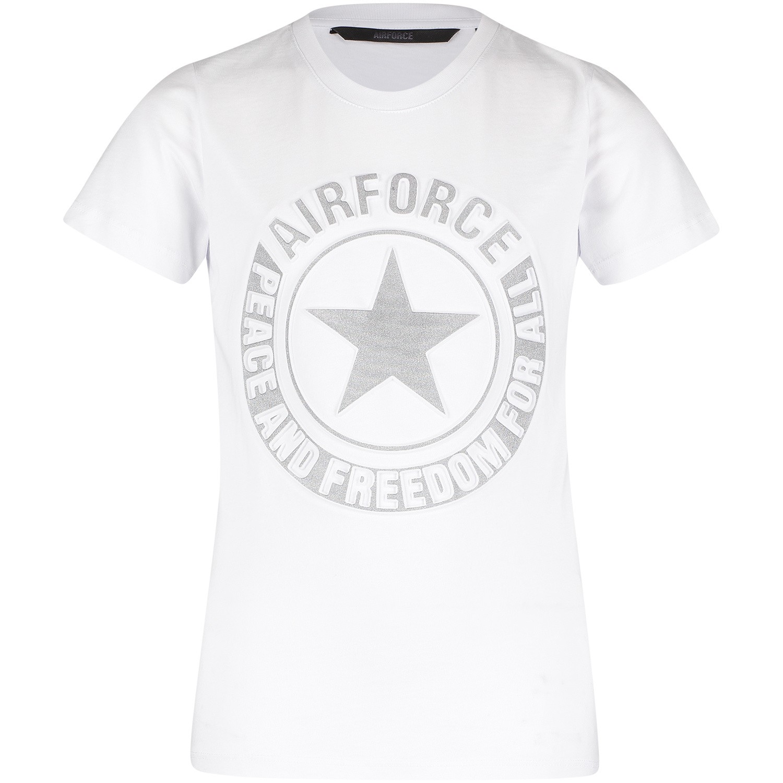 Afbeelding van Airforce B0597 kinder t shirt wit