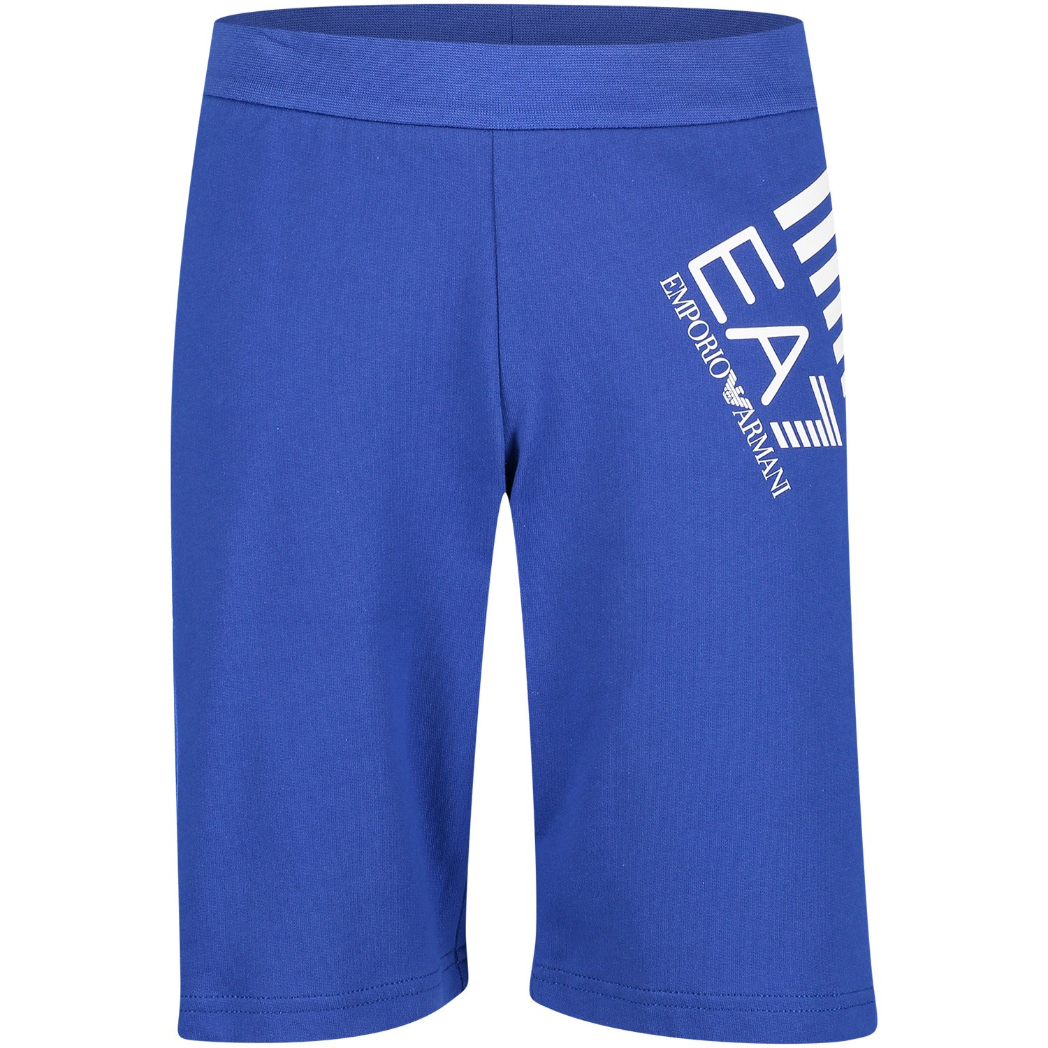 Picture of EA7 3GBS57 kids shorts cobalt blue