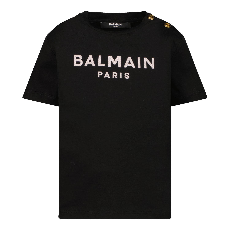 Afbeelding van Balmain 6P8831 baby t-shirt zwart