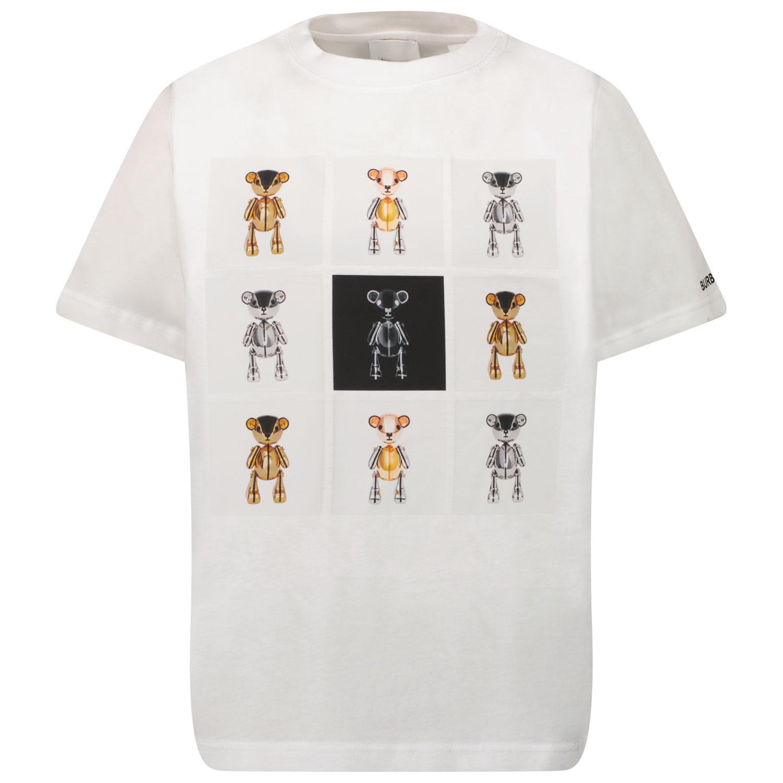 Afbeelding van Burberry 8044085 kinder t-shirt wit