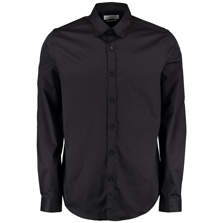 Afbeelding van Pure White 19010216 heren overhemd zwart