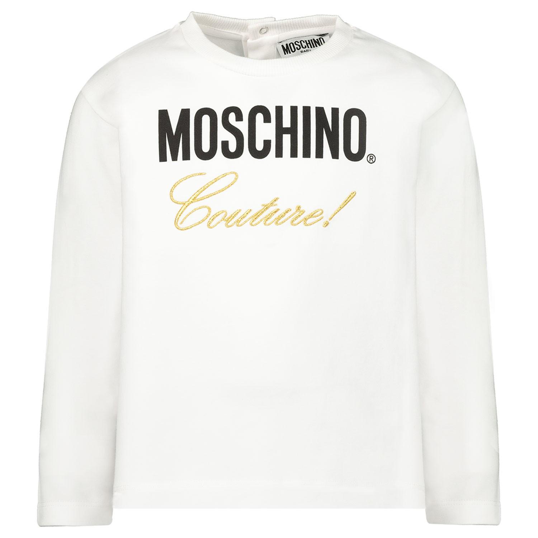 Afbeelding van Moschino MDM02M baby t-shirt wit