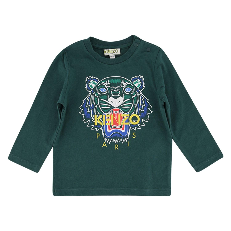 Afbeelding van Kenzo KP10688BB baby t-shirt donker groen