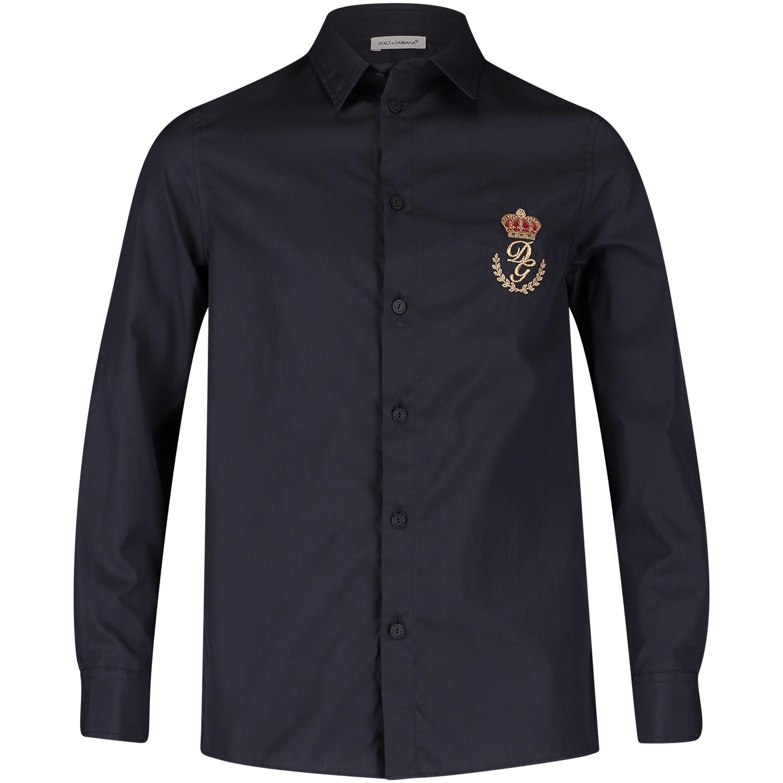 Afbeelding van Dolce & Gabbana L42S72 kinder overhemd navy