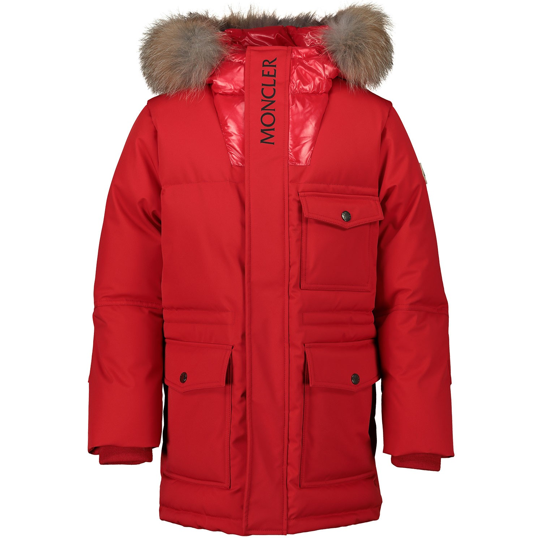Afbeelding van Moncler 4236925 kinderjas rood
