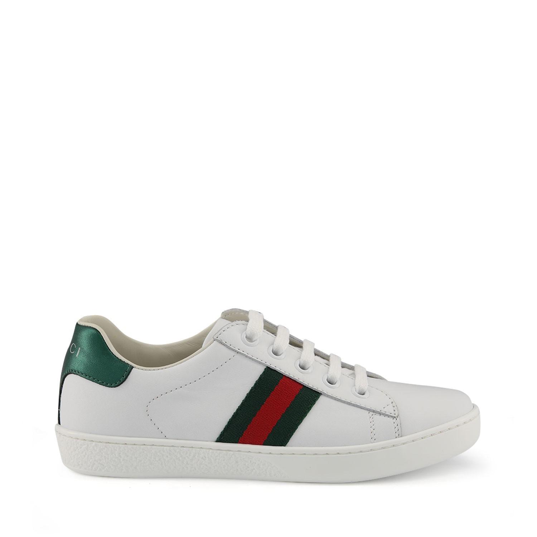 Afbeelding van Gucci 433148 kindersneakers wit
