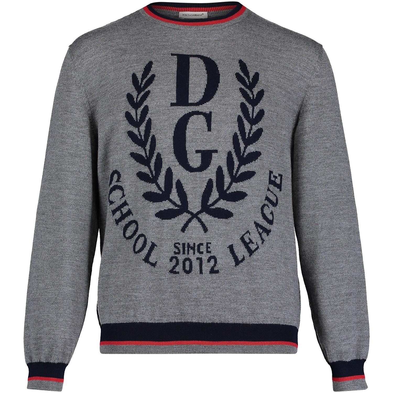 Afbeelding van Dolce & Gabbana L4KW09 kindertrui grijs