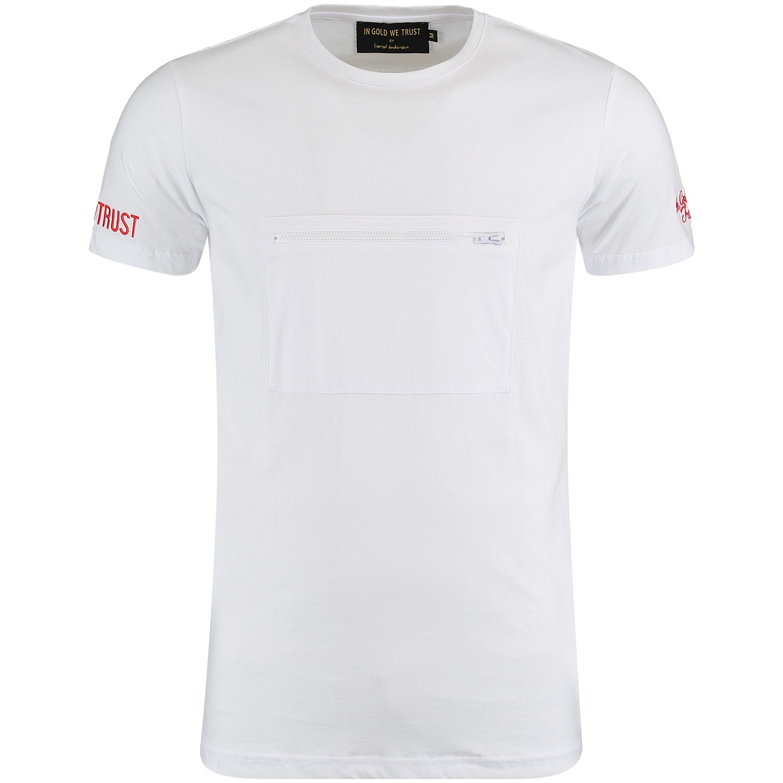 Afbeelding van in Gold We Trust FA072 heren t-shirt wit