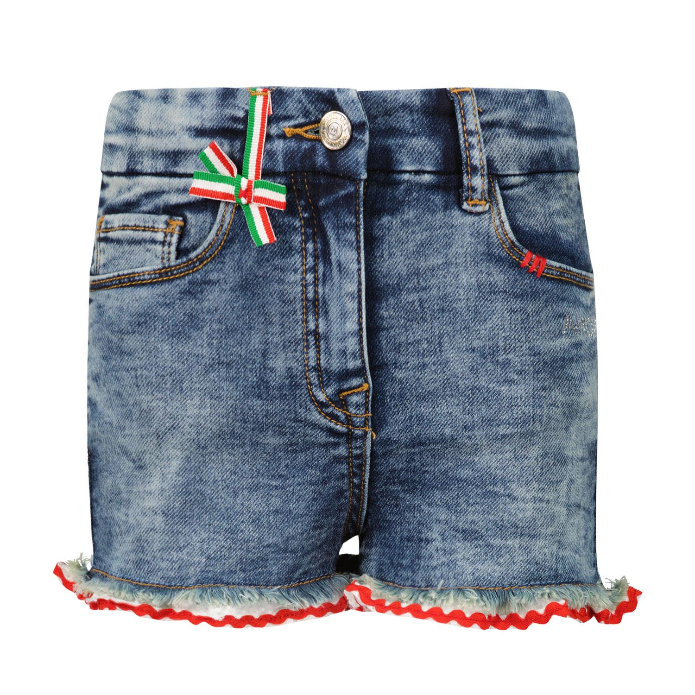 Afbeelding van MonnaLisa 197405R9 kinder shorts jeans