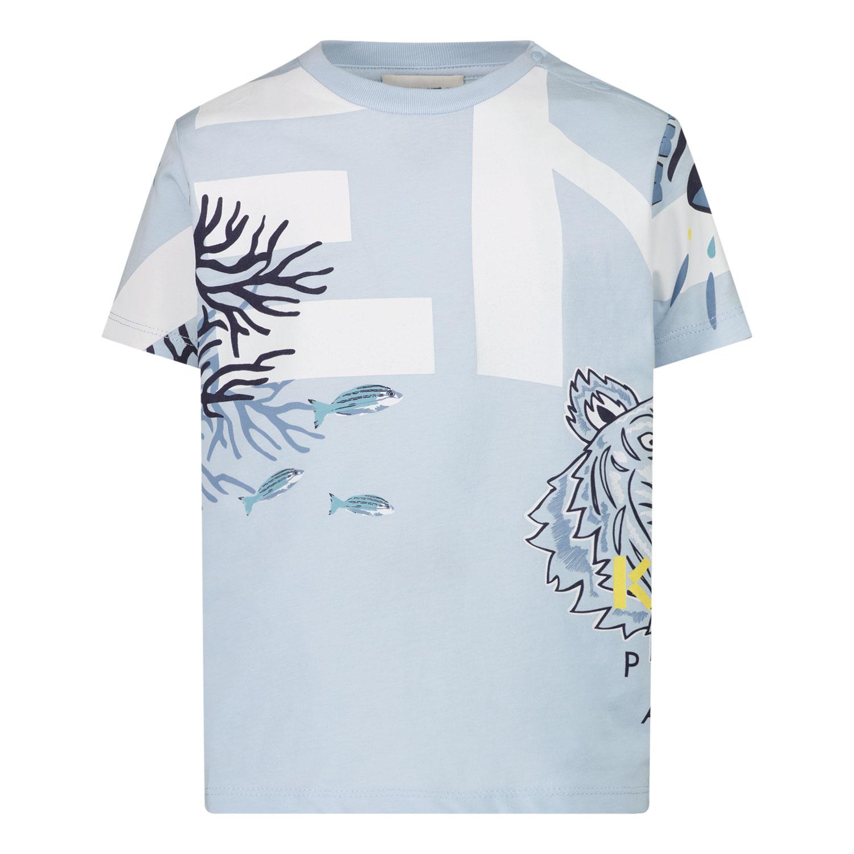 Afbeelding van Kenzo K05046 baby t-shirt licht blauw