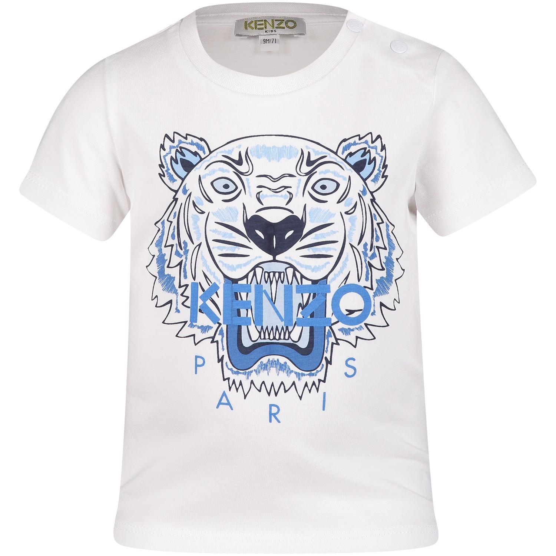 Afbeelding van Kenzo KN10738BB baby t-shirt wit