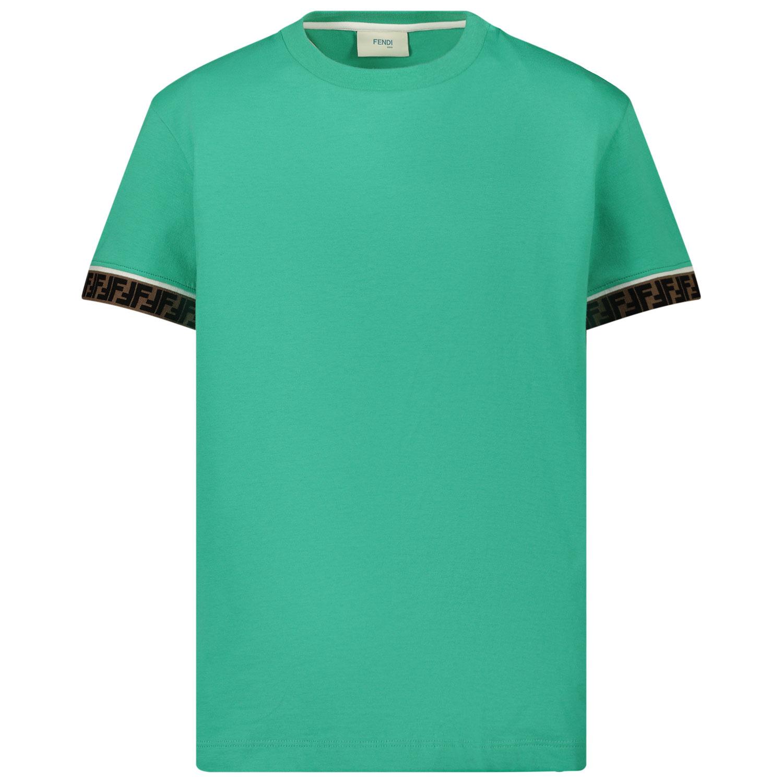 Afbeelding van Fendi JUI018 7AJ kinder t-shirt groen