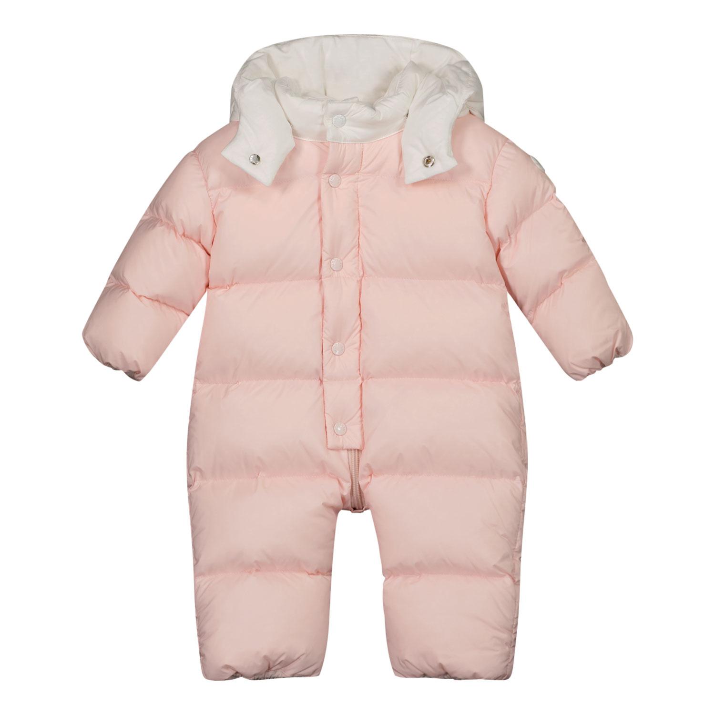 Afbeelding van Moncler 1G52100 baby skipak licht roze