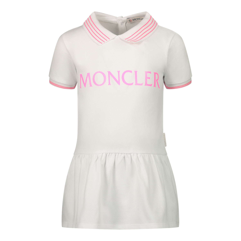 Afbeelding van Moncler 8M76110 babysetje fluor roze/wit