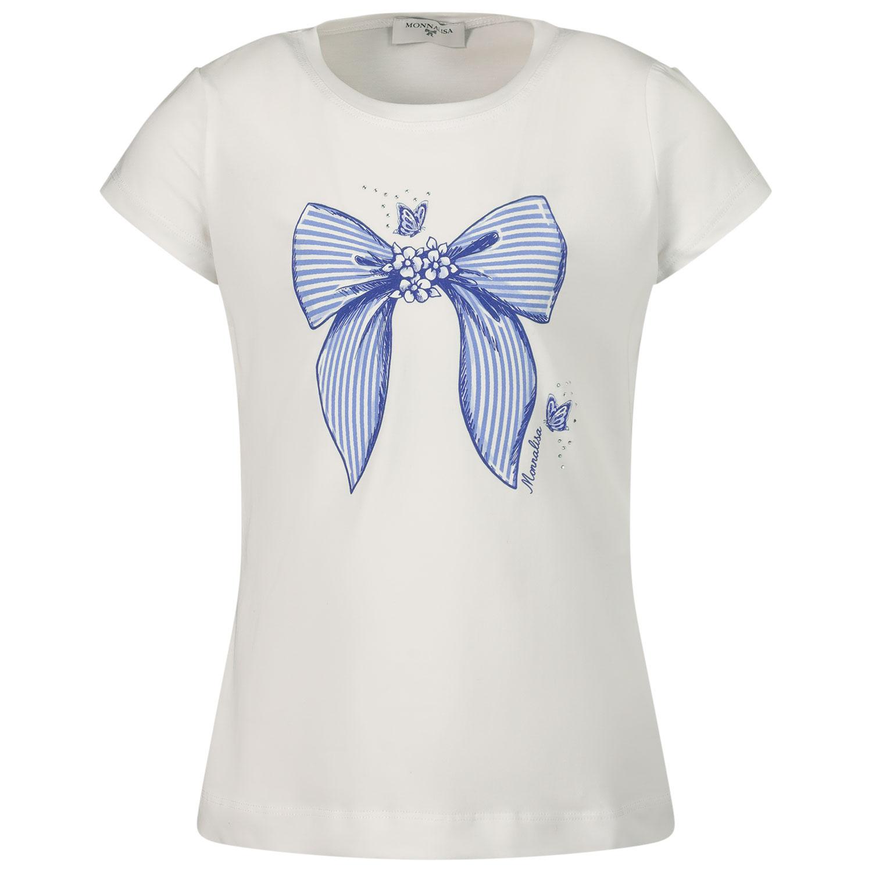 Afbeelding van MonnaLisa 117623PA kinder t-shirt wit