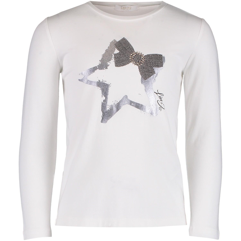 Afbeelding van Liu Jo K68100 kinder t-shirt off white