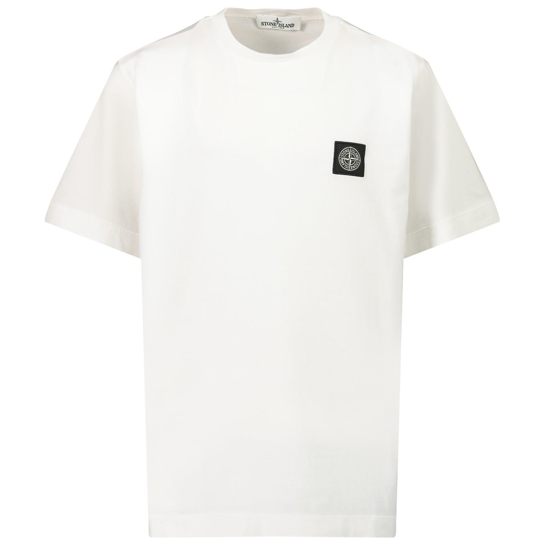 Afbeelding van Stone Island MO731620147 kinder t-shirt wit