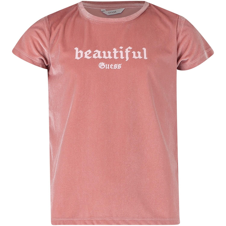 Afbeelding van Guess J84I10 kinder t-shirt licht roze