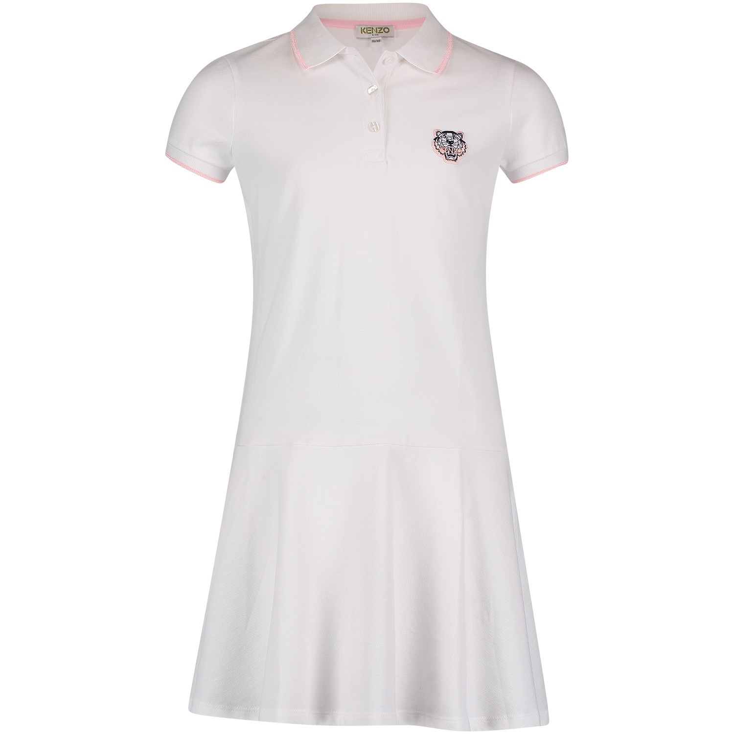 Picture of Kenzo KN30178 kids dress white