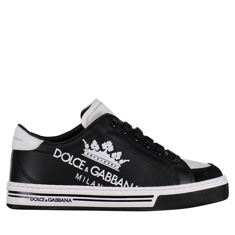Afbeelding van Dolce & Gabbana DA0637 kindersneakers zwart