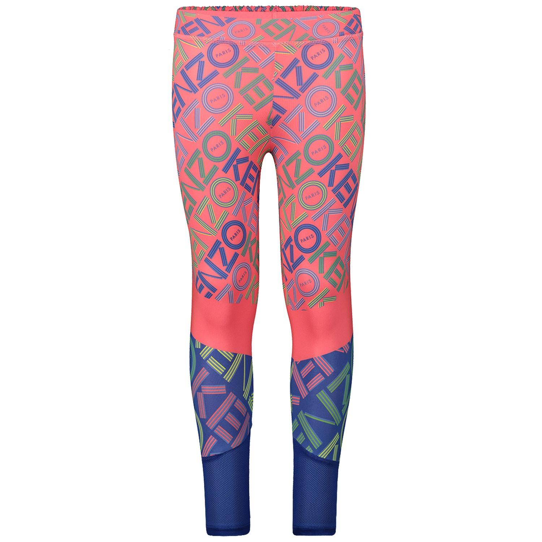 Afbeelding van Kenzo KP24078 kinder legging fluor roze