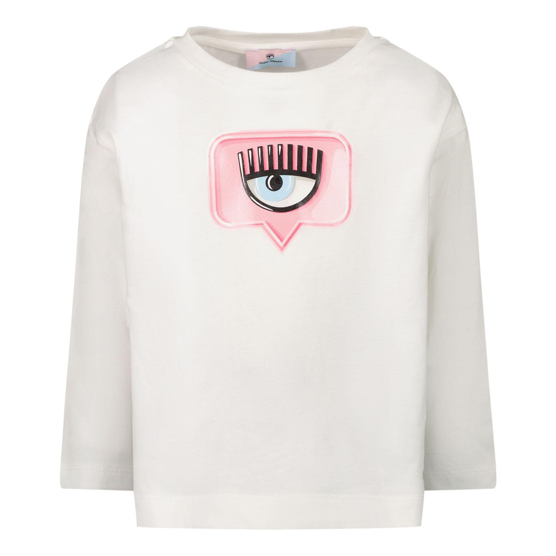 Afbeelding van Chiara Ferragni 518600 kinder t-shirt wit