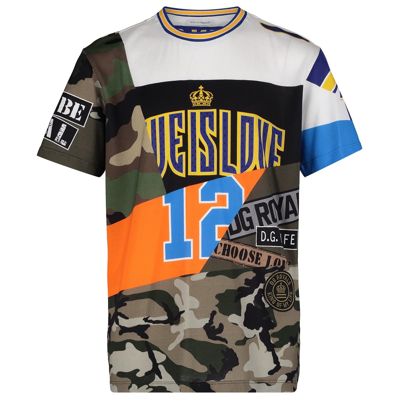 Afbeelding van Dolce & Gabbana L4JT9A kinder t-shirt army