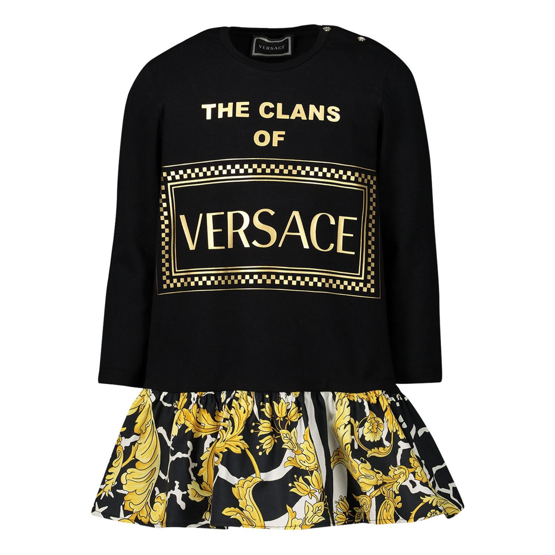 Afbeelding van Versace YA000083 babyjurkje zwart/goud