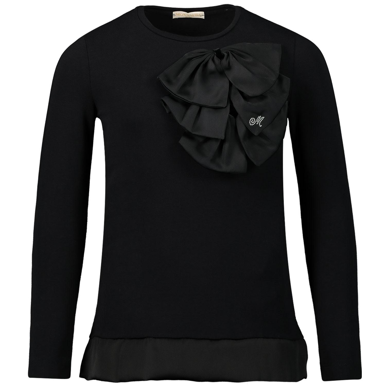 Afbeelding van MonnaLisa 714611AN kinder t-shirt zwart