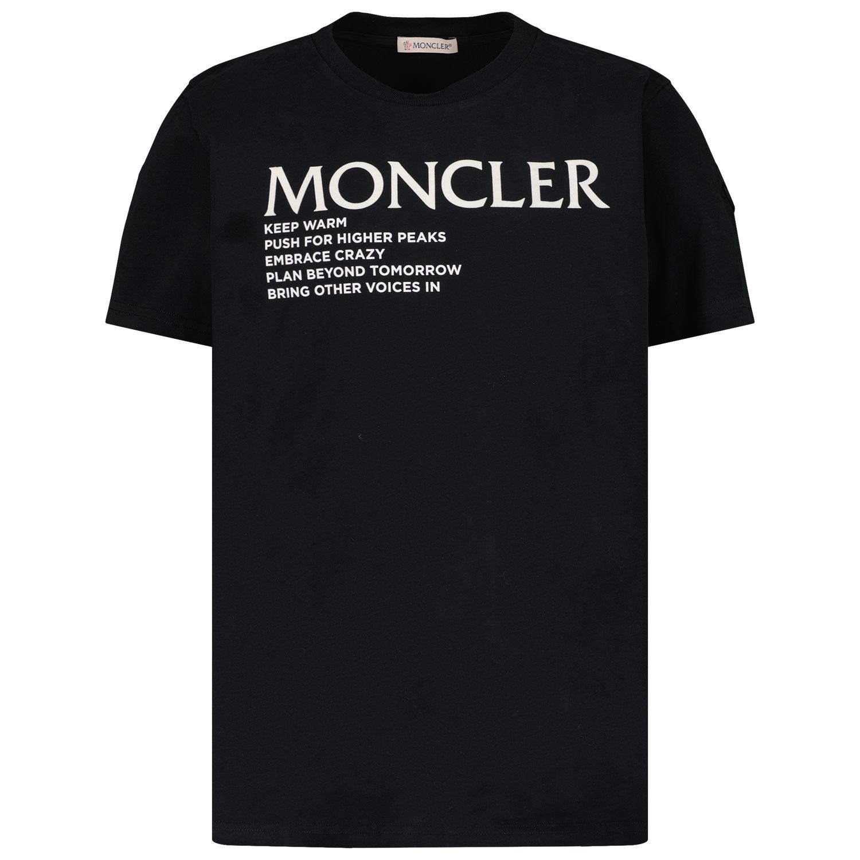 Afbeelding van Moncler 8C77300 kinder t-shirt zwart
