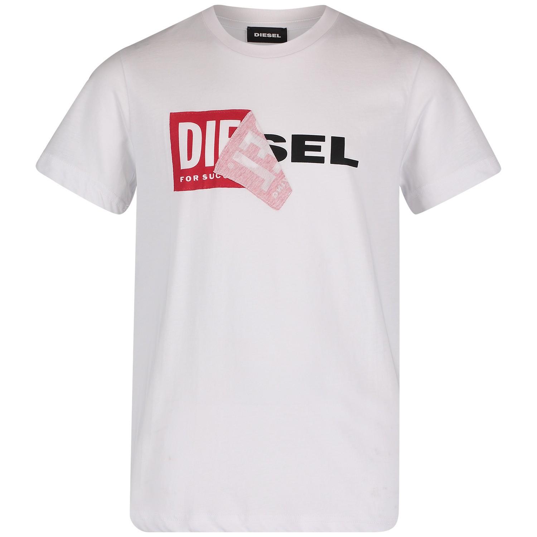 Afbeelding van Diesel 00J3ZN kinder t-shirt wit