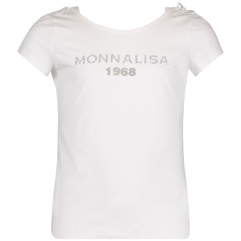 Afbeelding van MonnaLisa 173602AA kinder t-shirt off white