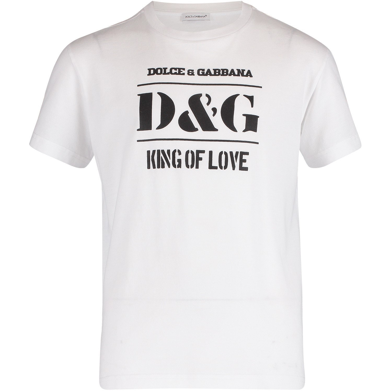 Afbeelding van Dolce & Gabbana L4JT7N G7SBP kinder t-shirt wit