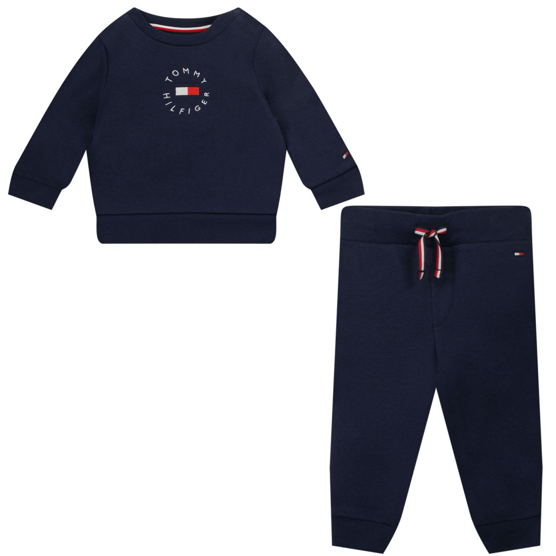 Afbeelding van Tommy Hilfiger KN0KN01371 baby joggingpak navy