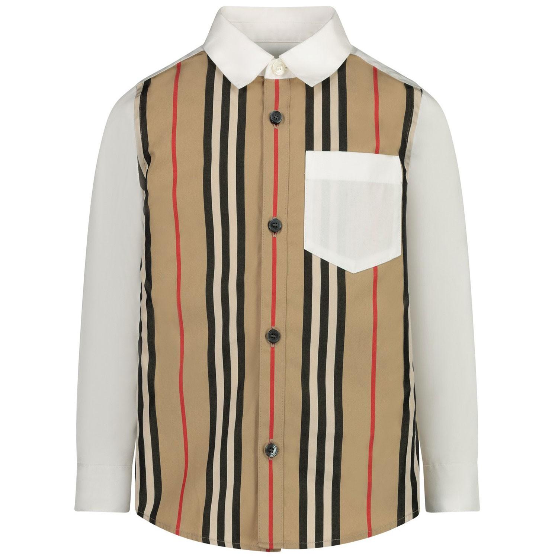 Afbeelding van Burberry 8030694 kinder overhemd wit