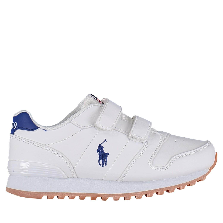 Picture of Ralph Lauren RF101685 kids sneakers white